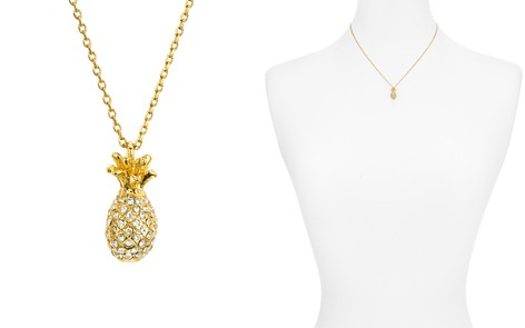 "kate spade new york Pavé Mini Pineapple Necklace, 16"" - Bloomingdale's_2"
