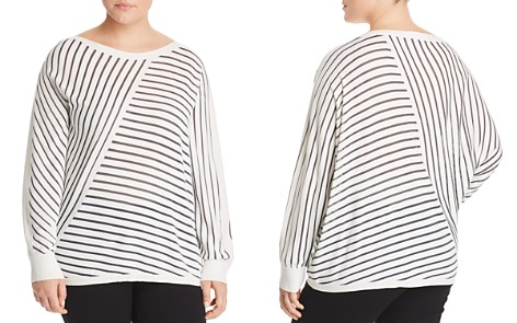 Lafayette 148 New York Plus Directional Stripe Sweater - Bloomingdale's_2