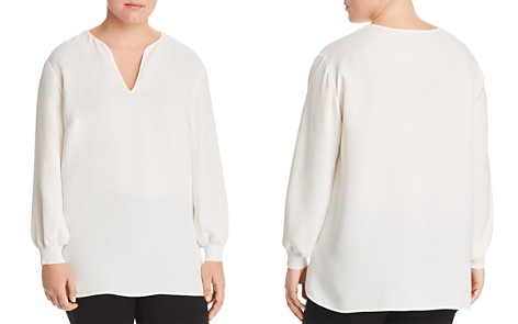 Lafayette 148 New York Plus Roxy Silk Blouse - Bloomingdale's_2