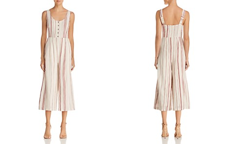 Lost + Wander Mariana Striped Cropped Wide-Leg Jumpsuit - Bloomingdale's_2