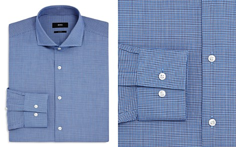 BOSS Micro Check Slim Fit Dress Shirt - Bloomingdale's_2