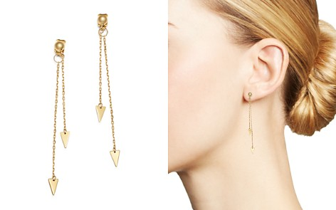 Moon & Meadow Arrow Chain Drop Front-Back Earrings in 14K Yellow Gold - 100% Exclusive - Bloomingdale's_2