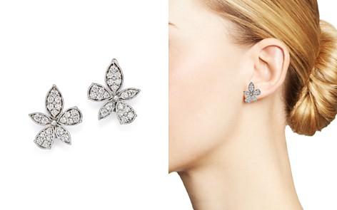 Bloomingdale's Diamond Flower Earrings in 14K White Gold, 1.0 ct. t.w. - 100% Exclusive _2