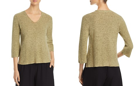 Eileen Fisher V-Neck Marled Sweater - Bloomingdale's_2