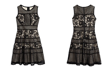 US Angels Girls' Contrast Mesh & Lace Dress - Big Kid - Bloomingdale's_2