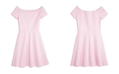 AQUA Girls' Ponte Off-the-Shoulder Skater Dress, Big Kid - 100% Exclusive - Bloomingdale's_2