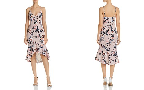 AQUA Floral Print Flounced-Hem Dress - 100% Exclusive - Bloomingdale's_2