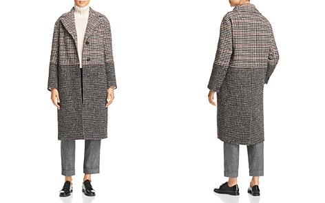 Weekend Max Mara Genio Mixed Check Pattern Coat - Bloomingdale's_2
