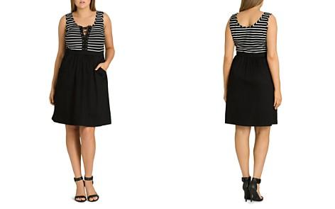 City Chic Plus Ahoy Lace-Up Dress - Bloomingdale's_2