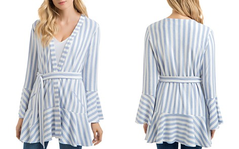 Lyssé Alice Striped Wrap-Front Jacket - Bloomingdale's_2