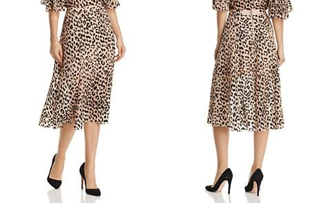 Alice + Olivia Athena Leopard Burnout Midi Skirt - Bloomingdale's_2