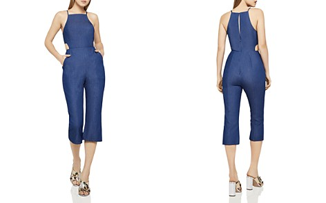 BCBGeneration Cutout-Detail Cropped Jumpsuit - Bloomingdale's_2