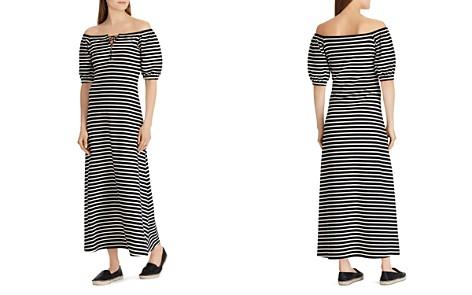 Lauren Ralph Lauren Striped Off-the-Shoulder Maxi Dress - Bloomingdale's_2