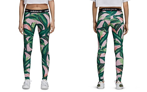 adidas Originals Palm-Print Leggings - Bloomingdale's_2