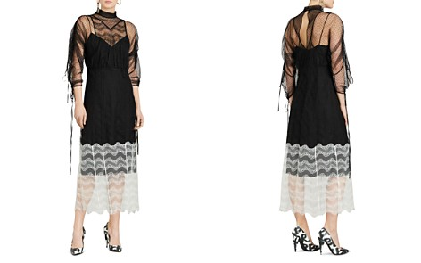 Burberry Fawne Color Block Lace Dress - Bloomingdale's_2