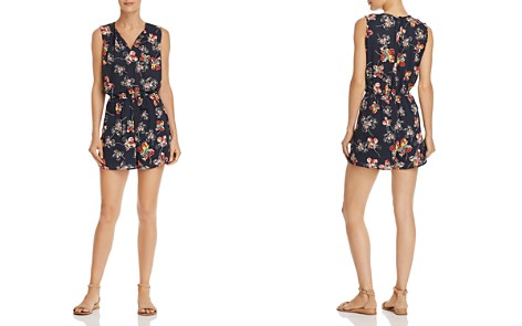 AQUA Sketch Floral Print Romper - 100% Exclusive - Bloomingdale's_2