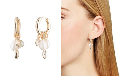 Carolee Hoop & Cultured Freshwater Pearl Cluster Drop Earrings - Bloomingdale's_2