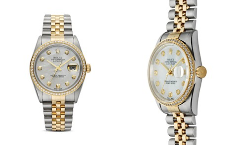 Pre-Owned Rolex Stainless Steel & 18K Yellow Gold Two-Tone Datejust Watch with Mother-of-Pearl Dial & Diamonds, 36mm - Bloomingdale's_2