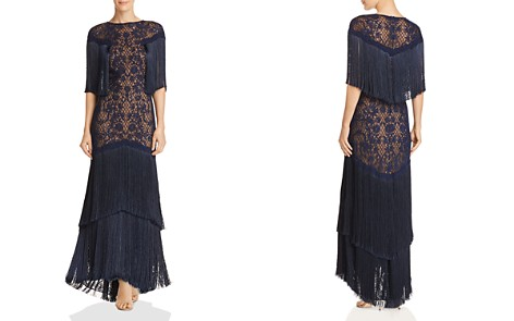 Tadashi Shoji Embroidered Fringe Gown - Bloomingdale's_2