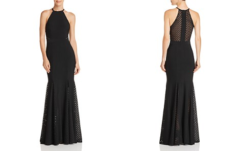 Avery G Sleeveless Mesh-Stripe Gown - Bloomingdale's_2