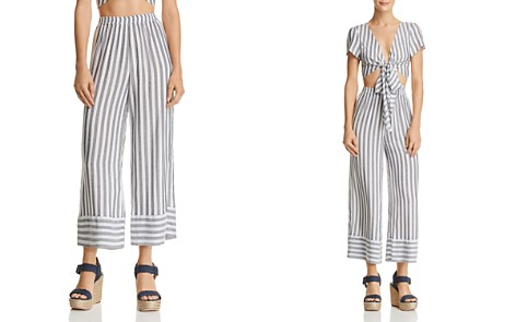 AQUA Striped Cropped Wide-Leg Pants - 100% Exclusive - Bloomingdale's_2