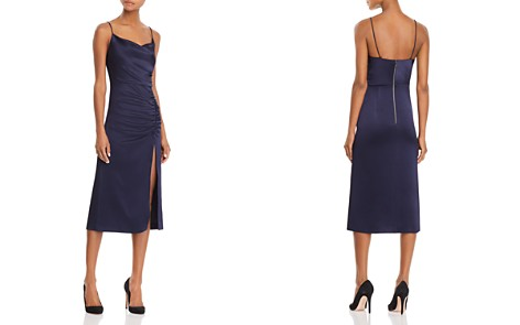 Alice + Olivia Dion Ruched Midi Slip Dress - Bloomingdale's_2
