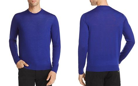 Emporio Armani Solid Crewneck Sweater - Bloomingdale's_2