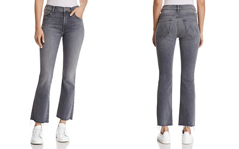 MOTHER Insider Ankle Fray Cropped Flared Jeans in Makin' The Grade - 100% Exclusive - Bloomingdale's_2
