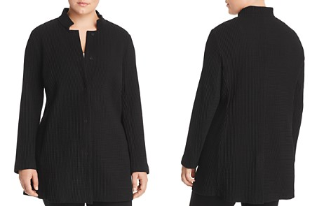 Eileen Fisher Plus Stand-Collar Long Jacket - Bloomingdale's_2