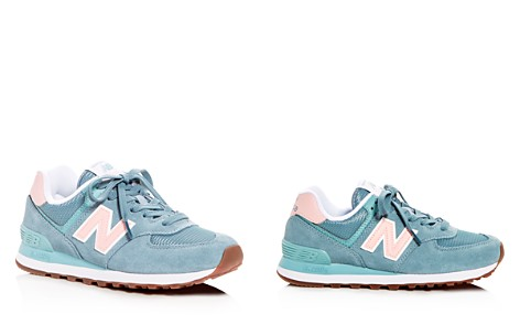 New Balance Women's Classic 574 Summer Dusk Nubuck Leather Lace Up Sneakers - Bloomingdale's_2