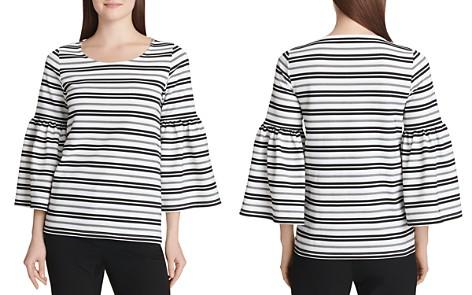 Calvin Klein Striped Bell-Sleeve Top - Bloomingdale's_2