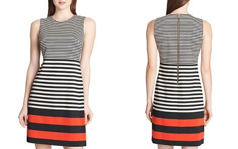 Calvin Klein Striped Ponte Dress - Bloomingdale's_2