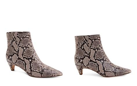 Splendid Women's Nettie Pointed Toe Leather Kitten Heel Booties - Bloomingdale's_2