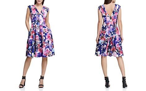 Donna Karan New York Watercolor-Floral Dress - Bloomingdale's_2