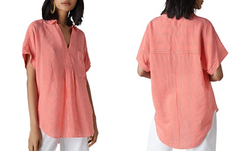 Whistles Lea Striped Shirt - Bloomingdale's_2
