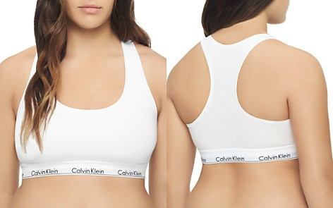 Calvin Klein Plus Modern Cotton Unlined Racerback Bralette - Bloomingdale's_2