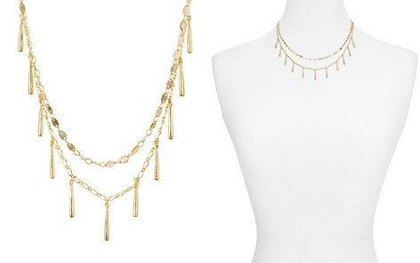 "Rebecca Minkoff Layered Teardrop Charm Necklace, 16"" - Bloomingdale's_2"