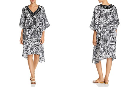 Profile by Gottex Embroidered V-Neck Caftan Swim Cover-Up - Bloomingdale's_2