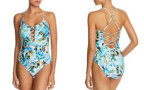 La Blanca Painted Love Lace-Up One Piece Swimsuit - Bloomingdale's_2