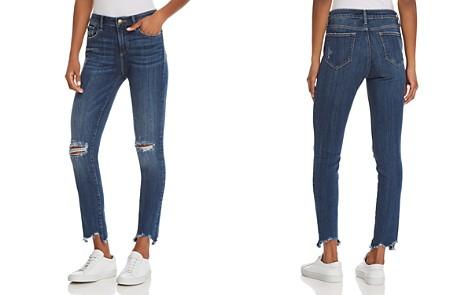 AQUA Distressed High-Rise Skinny Jeans in Medium Wash - 100% Exclusive - Bloomingdale's_2