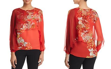 Elie Tahari Malika Overlay Floral Silk Top - Bloomingdale's_2