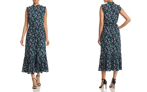 MICHAEL Michael Kors Ruffle-Trimmed Floral-Print Midi Dress - Bloomingdale's_2