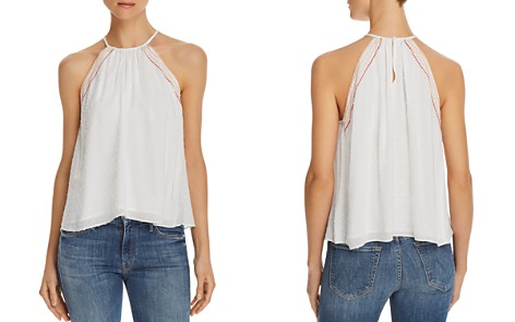 Honey Punch Embroidered Swiss Dot Top - Bloomingdale's_2