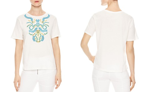 Sandro Andy Embroidered Eyelet Tee - Bloomingdale's_2
