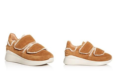 UGG® Women's Ashby Round Toe Fur & Suede Sneaker - Bloomingdale's_2