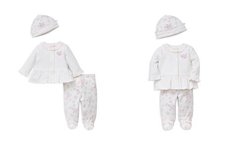 Little Me Girls' Dainty Rose Take Me Home Hat, Cardigan & Leggings Set - Baby - Bloomingdale's_2