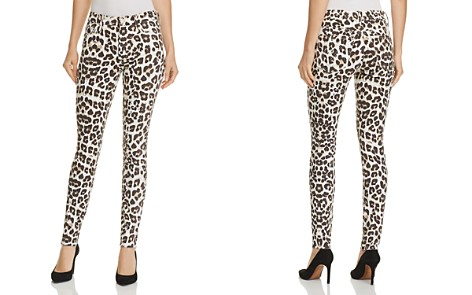 MOTHER High-Waist Looker Ankle Fray Leopard Skinny Jeans in Touch of the Tundra - 100% Exclusive - Bloomingdale's_2