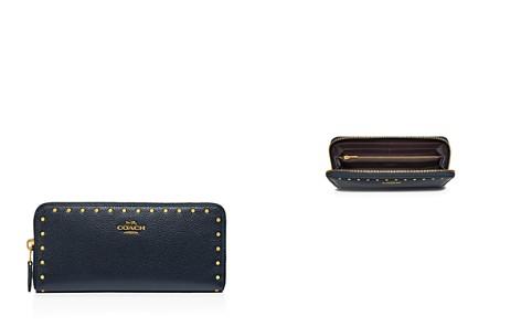 COACH Border Rivets Slim Leather Accordion Zip Wallet - Bloomingdale's_2