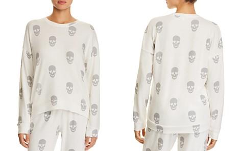 PJ Salvage Simple Skull Long Sleeve PJ Top - Bloomingdale's_2