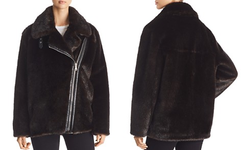 KENDALL and KYLIE Oversized Faux Mink Moto Jacket - Bloomingdale's_2
